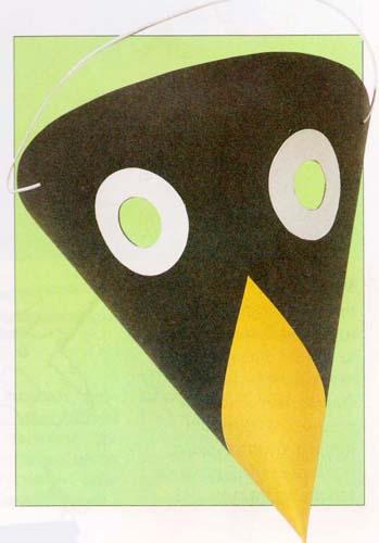 Маска ворона из бумаги своими руками фото