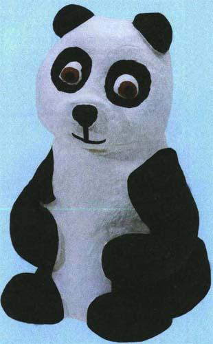 Поделка из соленого теста панда.